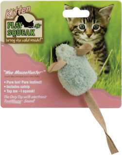 Play-N-Squeak Wee MouseHunter Kitten Toy